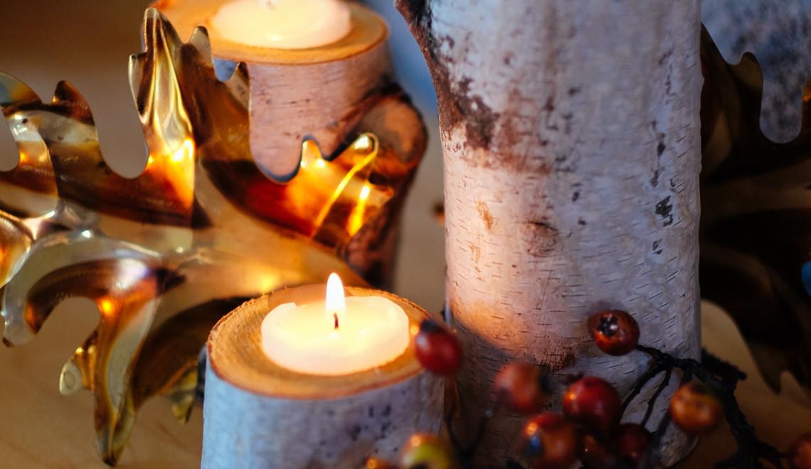 Birch Candlesticks and New Friendships